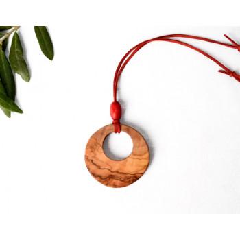 Zeytin Ağacı Kırmızı Kolye...